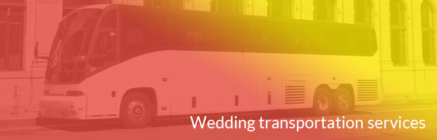 wedding transportation bus in nyc