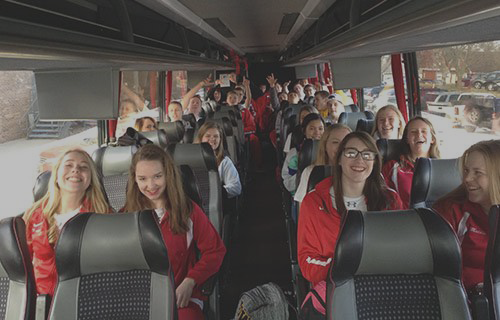 Bus rentals for your sports team